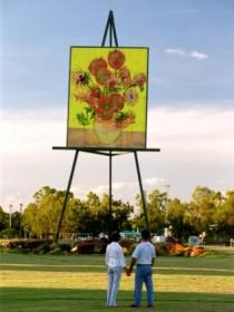 Van Gogh Sunflower Painting - Accommodation VIC