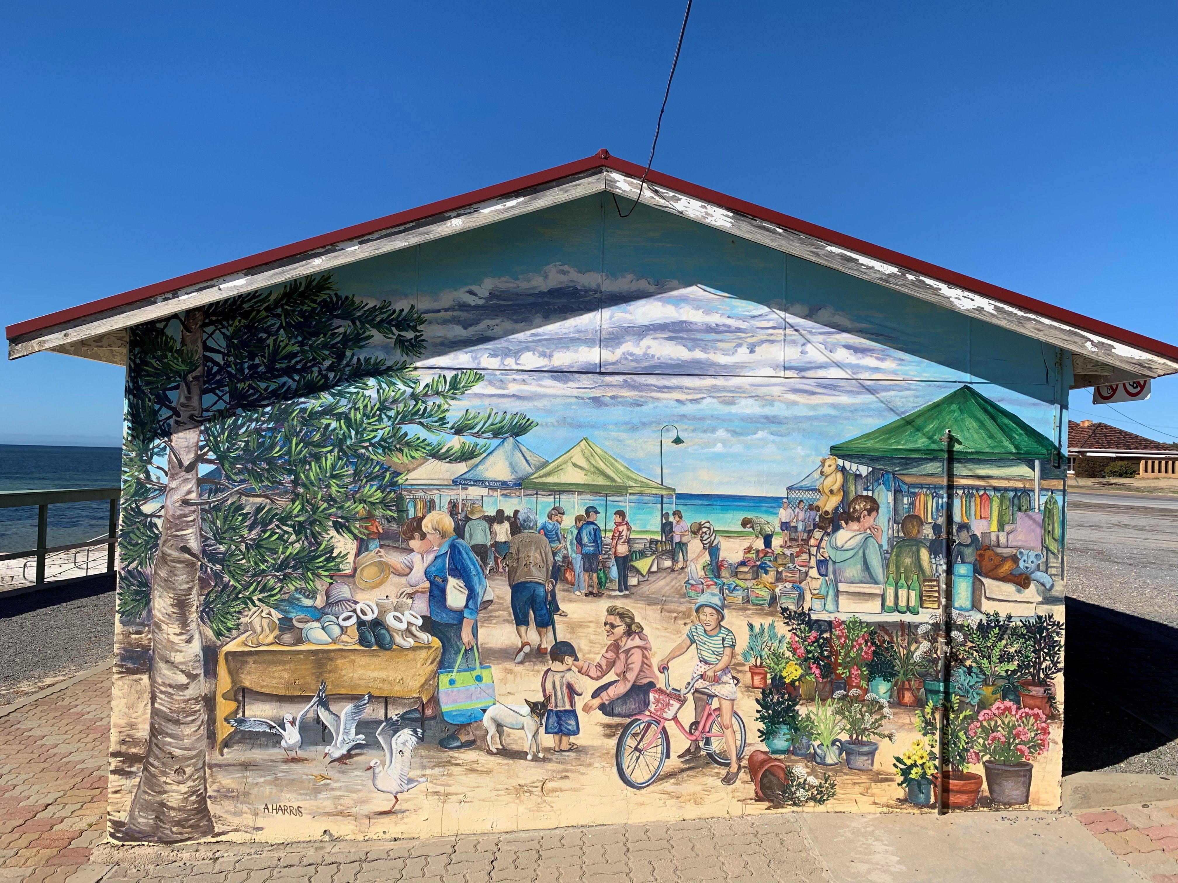 Stansbury Foreshore Murals - Accommodation VIC