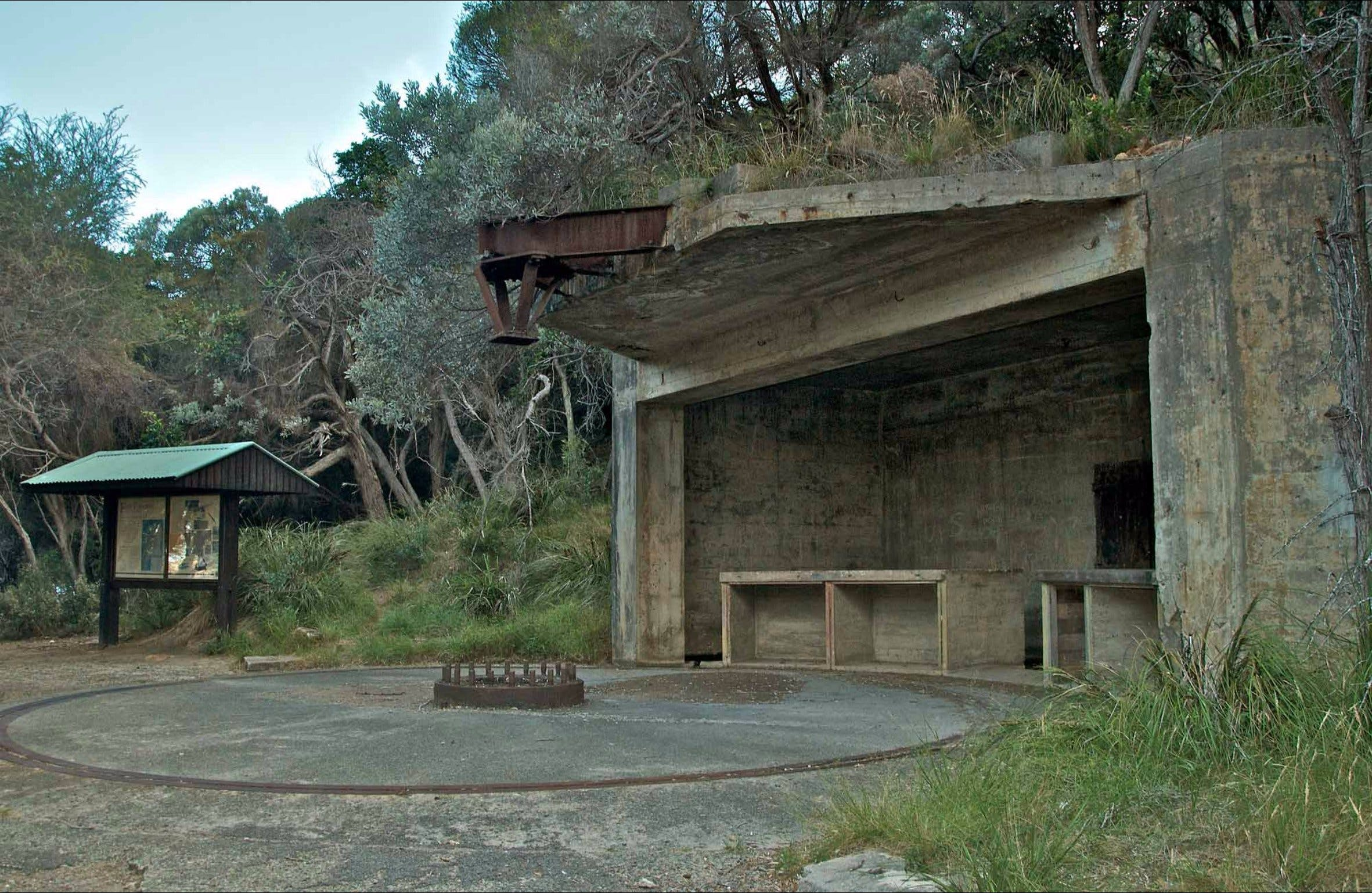 World War II gun emplacements - Accommodation VIC